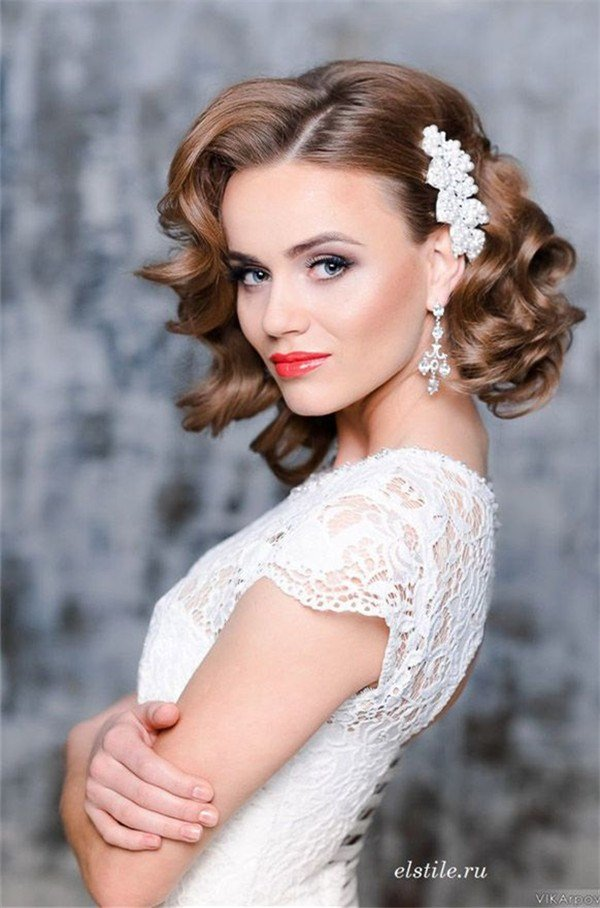 The Best 10 Fantastic Wedding Hairstyles For Short Hair Pictures