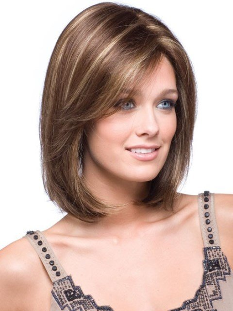 The Best 16 Latest Medium Length Hairstyles For Square Faces – Wigs – Circletrest Pictures