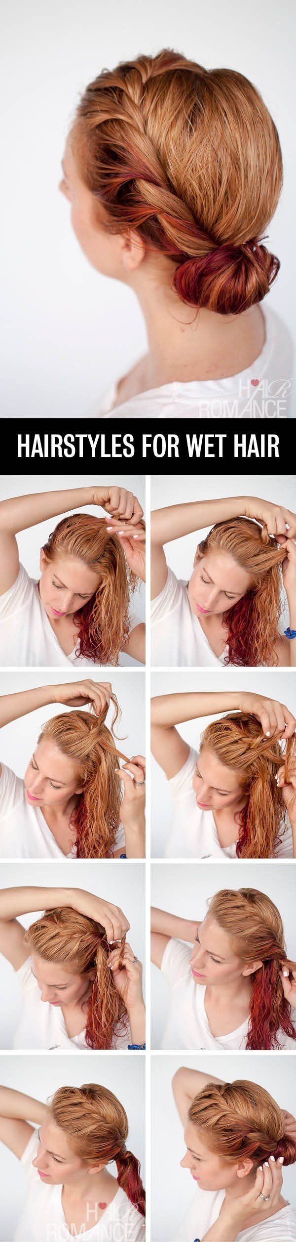 The Best Get Ready Fast With 7 Easy Hairstyle Tutorials For Wet Pictures