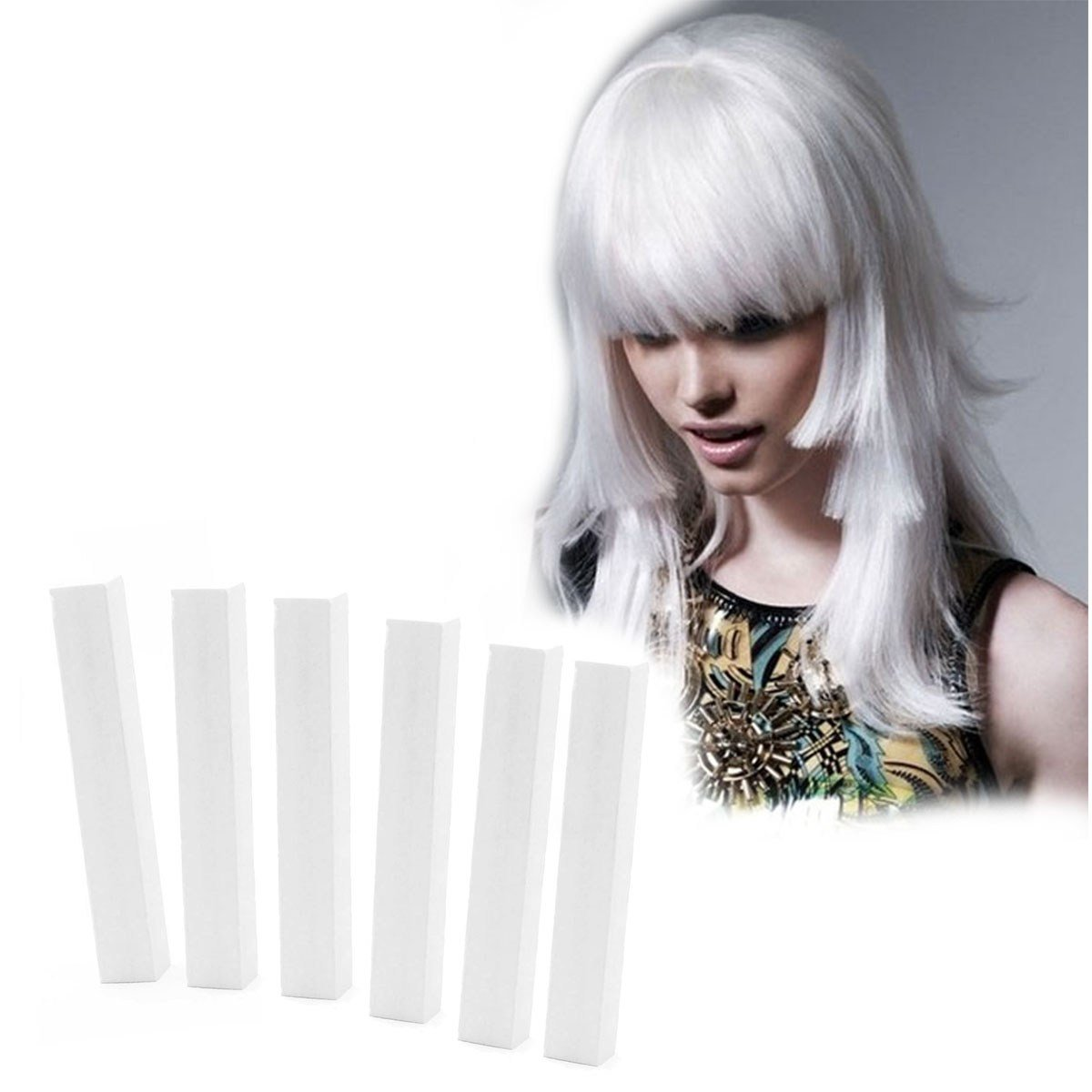 The Best Snow White Hair Dye 6 Frosty White Hair Chalks Hairchalk Pictures