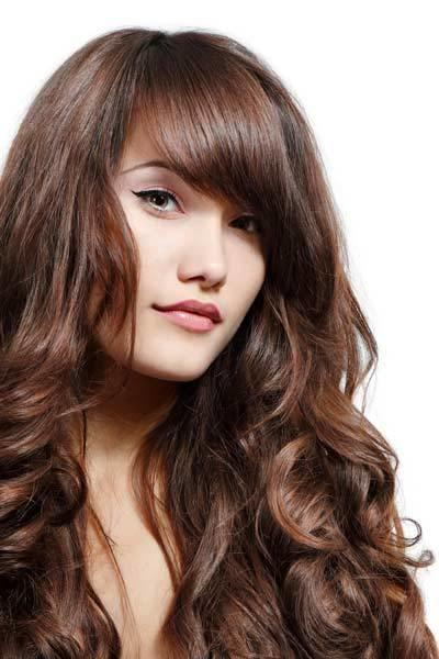 The Best Hairstyles For Wavy Thick Hair With Bangs Pictures
