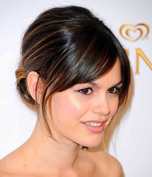 The Best 20 Bun Hairstyles With Bangs Hairstyles Haircuts 2016 Pictures