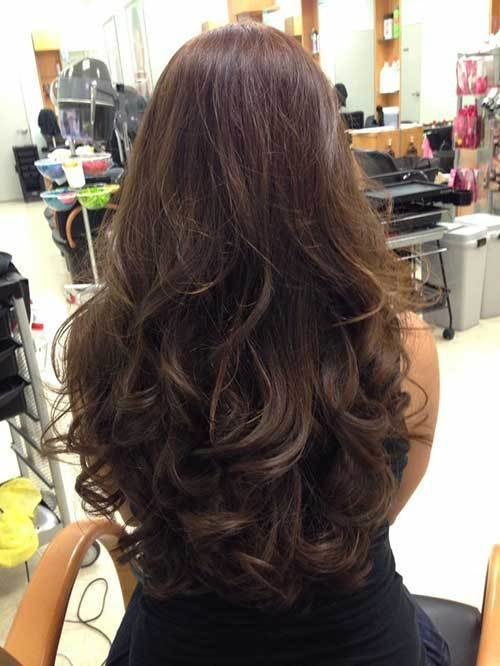 The Best 10 Long Layered Hair Back View Hairstyles Haircuts Pictures