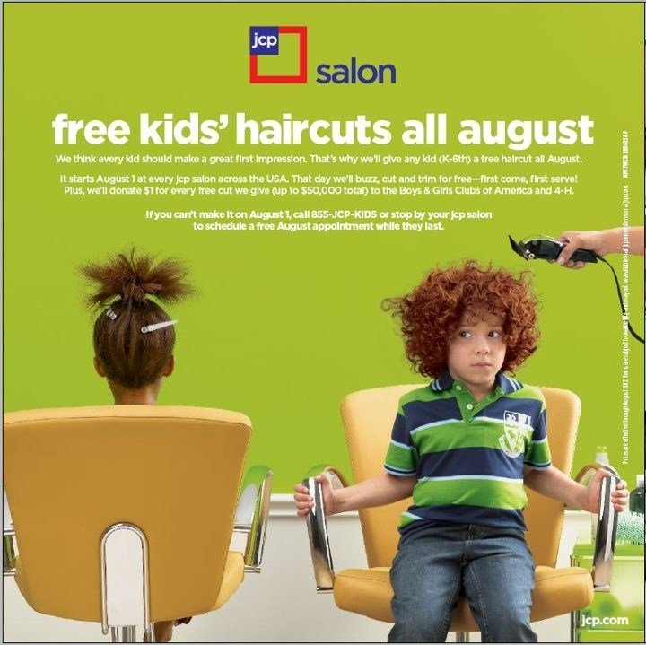The Best Jcpenney Salon Free Haircuts For Kids Mybargainbuddy Com Pictures
