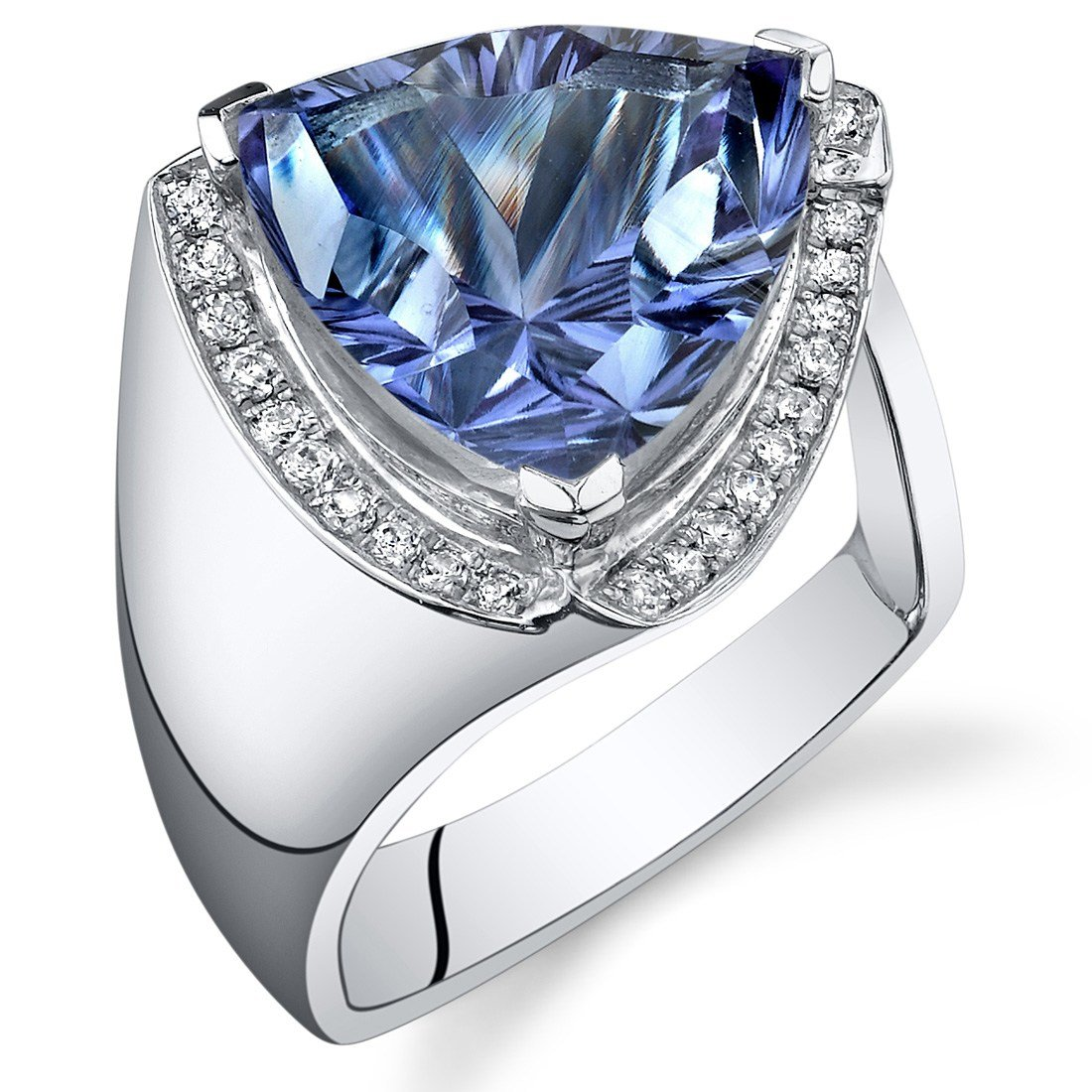 The Best 8 00 Cts Trillion Cut Alexandrite Ring Sterling Silver Pictures