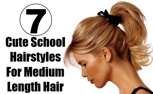 The Best 7 Cute School Hairstyles For Medium Length Hair Style Presso Pictures