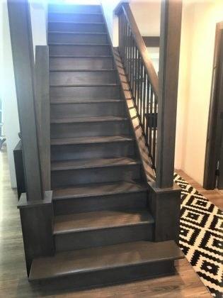 Rift Sawn White Oak Staircase Ron Holstrom Antique Floors | White Oak Stair Risers | Spindles | Paint | Stair Railing | Stairs Treads | Carpet