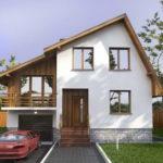Дом с несимметричными скатами