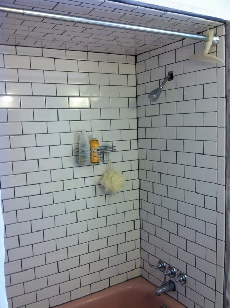 White Subway Tub Surround  Complete       Room to Think And