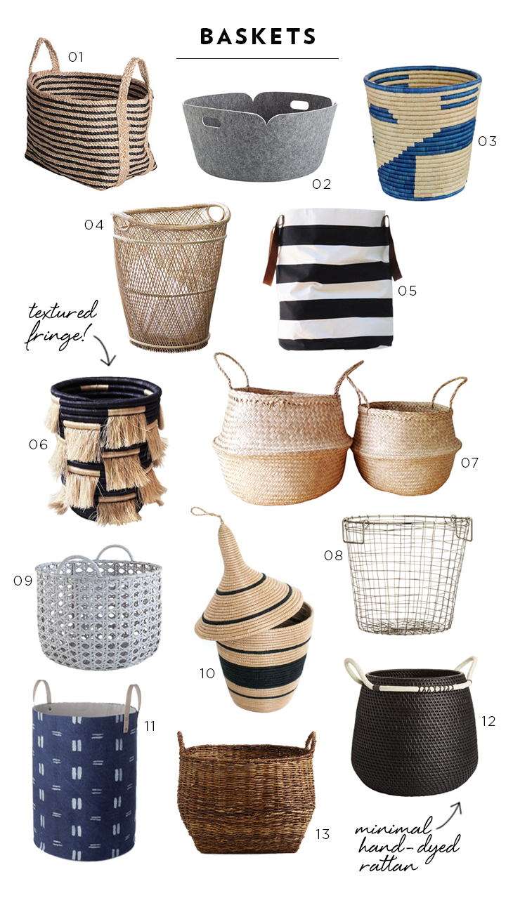 13 Neutral Baskets for Any Decor Style   Room For Tuesday 13 Neutral Baskets for Any Decor Style
