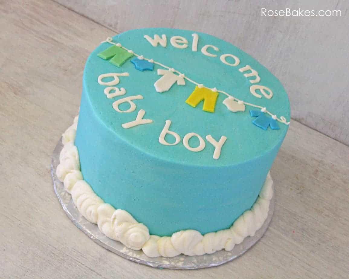 Baby Boy Baby Shower Cakes