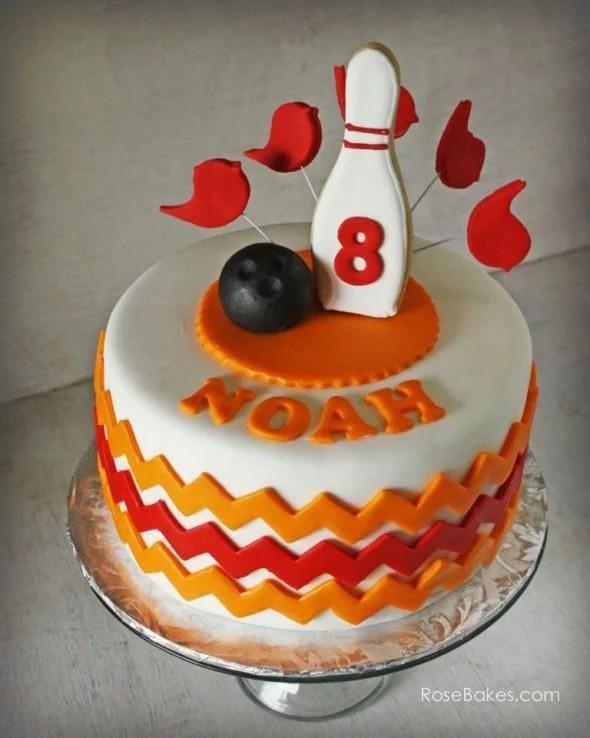 A Bowling Birthday Party Happy Birthday Sarah Rose Bakes