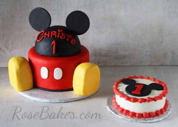 Mickey Mouse Cake And Smash Cake Rose Bakes