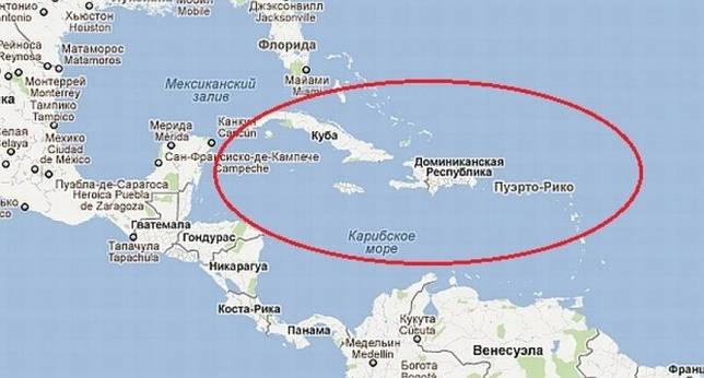 Caribbean sa mapa