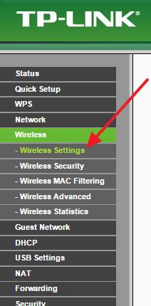 Gå til sektion med Wi-Fi-indstillinger