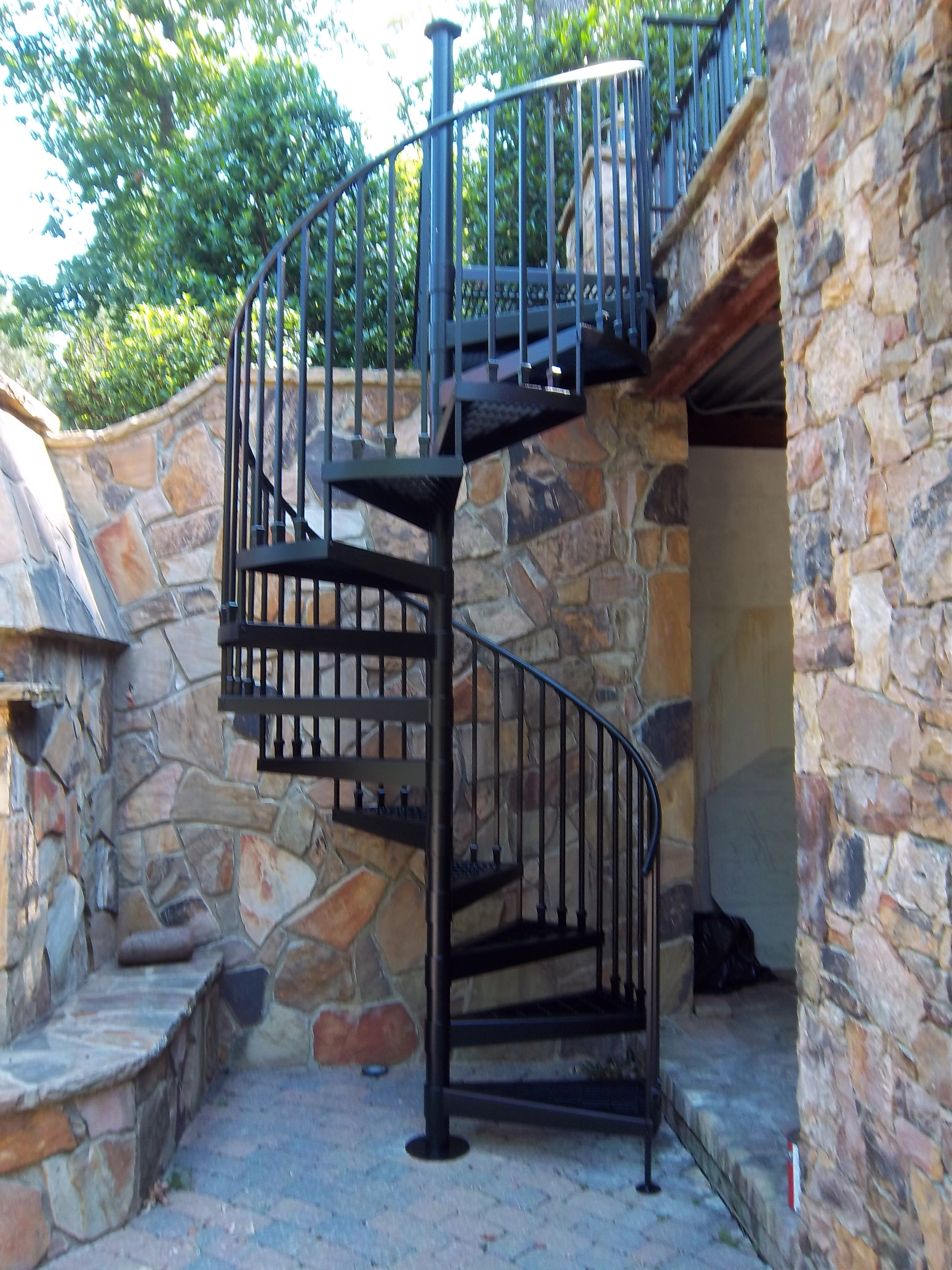 Spiral Staircase Kit With Custom Landing Robert S Shuping Wood   The Iron Shop Spiral Staircase   Stairs Built   Loft Staircase   Attic Loft   Staircase Ideas   White Spiral