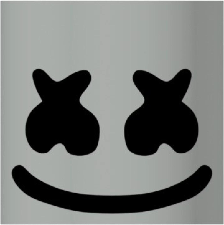 Template Eyes Marshmello Helmet