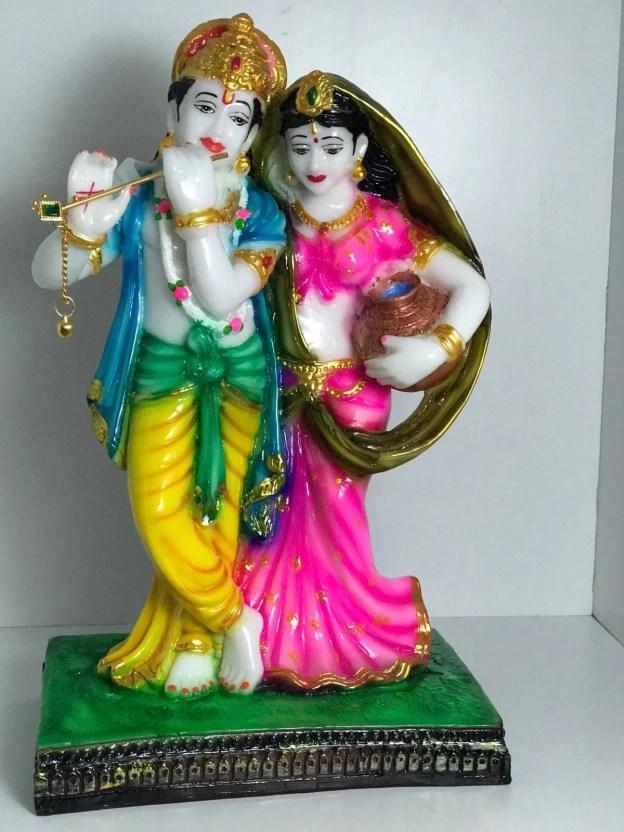 Image of: Lord Clay Arts Cute Krishna Radha Combo 107 Decorative Showpiece 30 Cm polyresin Multicolor Pinterest Clay Arts Cute Krishna Radha Combo 107 Decorative Showpiece 30 Cm