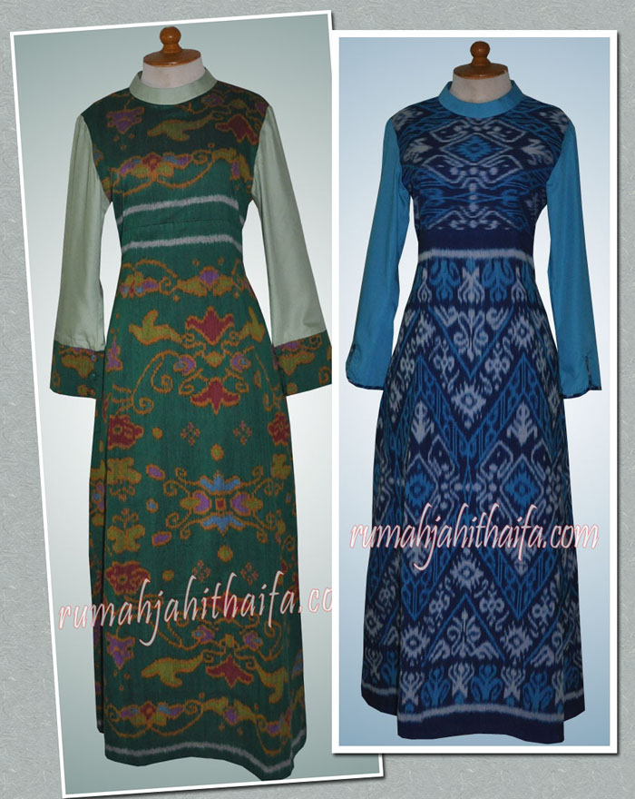 Image Result For Model Gamis Ibu Ibu Kombinasi Batik