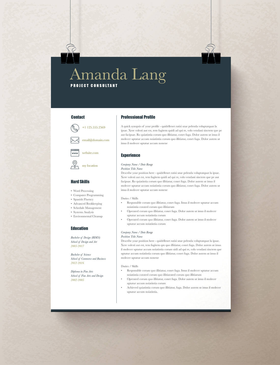 Modern Resume Template  Professional Resume Template Word   Rumble     Modern Resume Template  Professional Resume Template Word