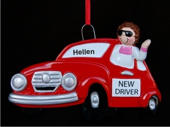 New Driver Girl Hand Personalized Christmas Ornaments By