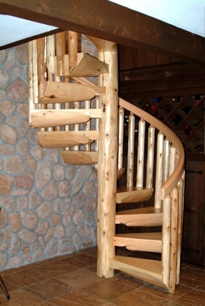 Spiral Staircases Ryan S Rustic Railings Orr Mn   Outdoor Wooden Spiral Staircase   Kid Friendly   Residential   Circular   Beautiful   Rooftop Deck