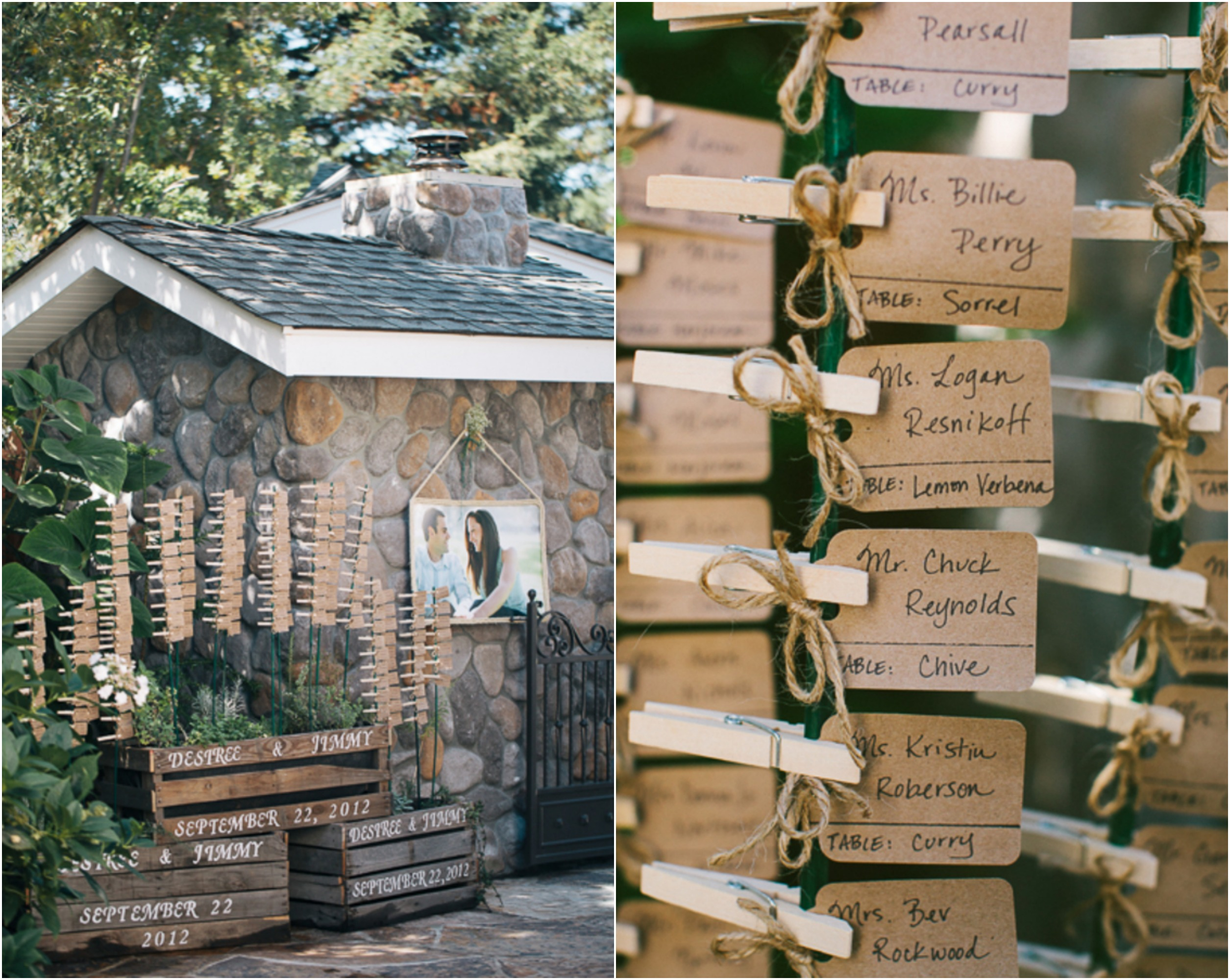 Elegant Backyard Wedding Rustic Wedding Chic