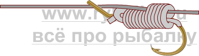 釣りノード - フックスライディングスヌード写真5を綴じる方法5