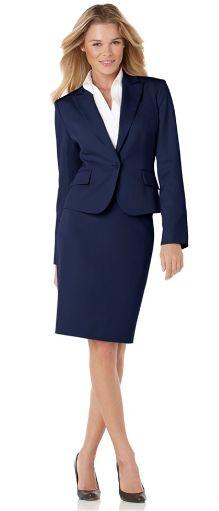 Look Black Business Dress Navy Jacket