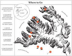 Vik Area Tourist Map - Vik Iceland • mappery | Iceland ...