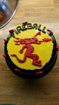Fireball Cinnamon Whisky Themed Cake Birthday Cakes