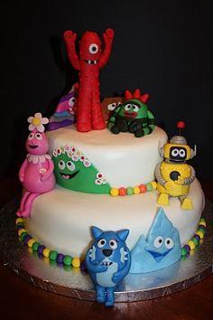 Yo Gabba Gabba Tiffany Storbeck Hobson Round Cake With