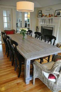 The Louden Stockton Farm Table In Black Rustic Distressed