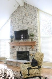 1000 Images About Whitewashed Stone Fireplace On