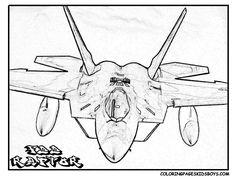 Landing Airplane Coloring Pages Planes Trains