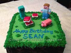 Minecraft Birthday Cake Creeper My Creations