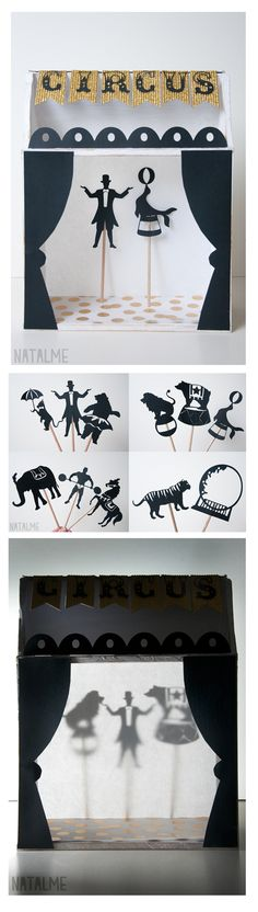 circus shadow puppet templates