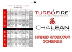 beachbody turbo fire schedule pdf - Google Search ...