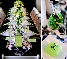 1000 Images About Black Green And White Party Ideas On