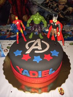 Avengers Cake From Walmart Birthday Party Pinterest