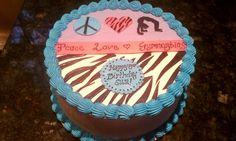 Custome Cake Zebra Walmart It S A Girl Pinterest