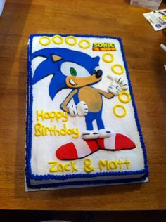 Pattern For Sonic The Hedgehog Cake Figuring Out How To