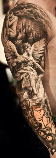 Arcangel San Miguel Tattoo Forearm