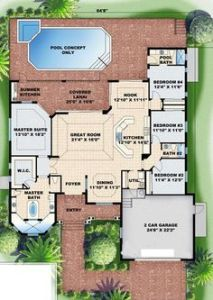 House plans split bedroom layout   House design plans House plans split bedroom layout