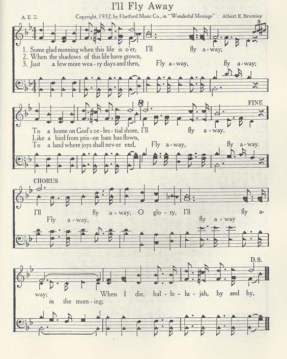 Hymn Ill Fly Away Chords