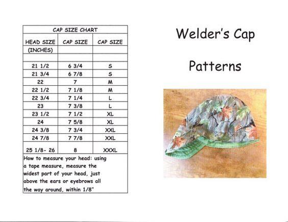 Free Welders Cap Printable Patterns