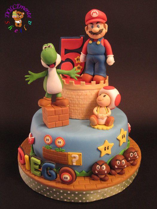Cake Decorating Cartoon Mario