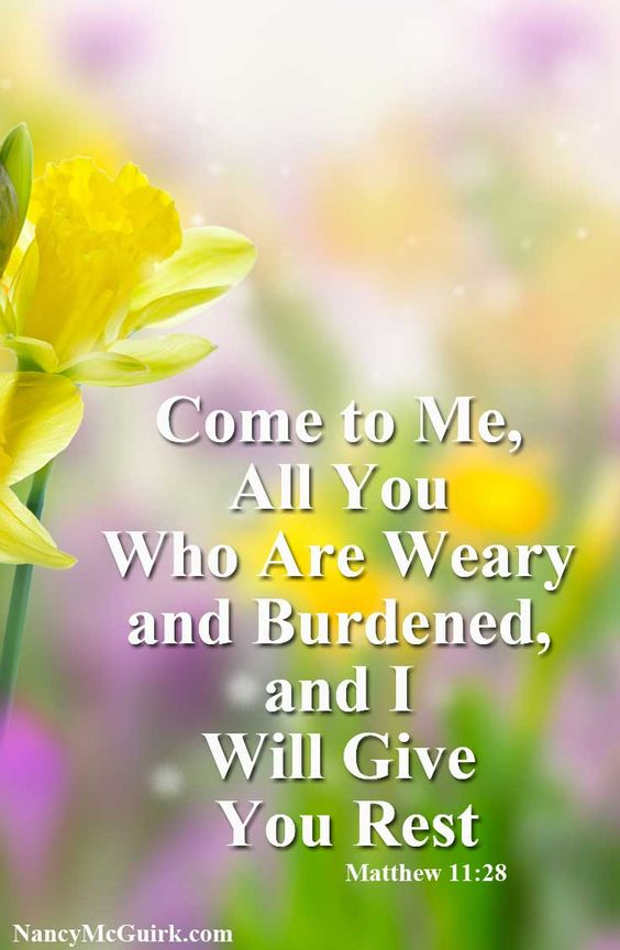 All 28 Will I Rest Me And And You Give 11 Come Weary Matthew You Are Who Burdened