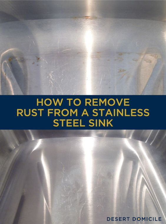Rust Stainless Steel Marks Sinks