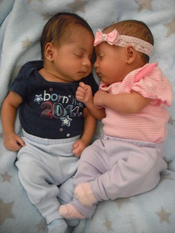 Babies Hispanic Twin Black And